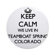 Keep calm we live in Steamboat Sp Ornament (Round)