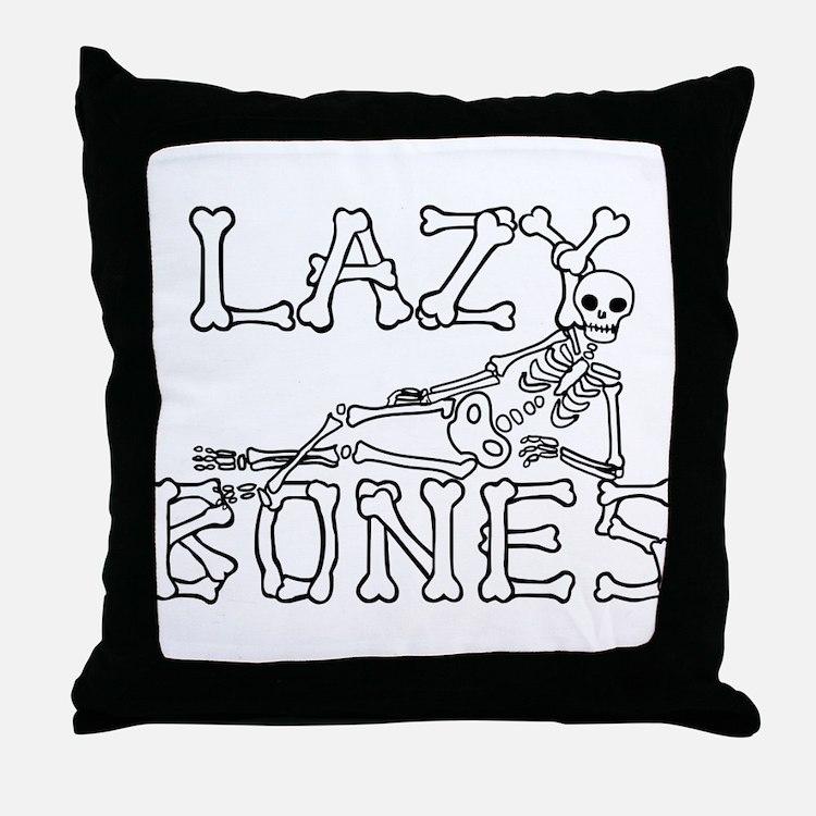 Lazy Bones Throw Pillow