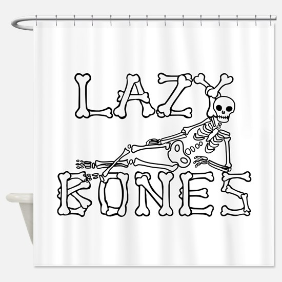 Lazy Bones Shower Curtain