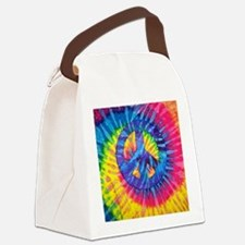 Cool Tye dye peace hippie Canvas Lunch Bag