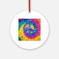 Unique Dye hippie Round Ornament