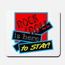 Rock And Roll Is here Mousepad