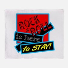 Rock And Roll Is here Throw Blanket