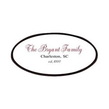 Personalizable Family Black Red Patches