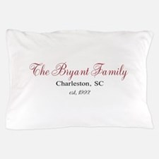 Personalizable Family Black Red Pillow Case