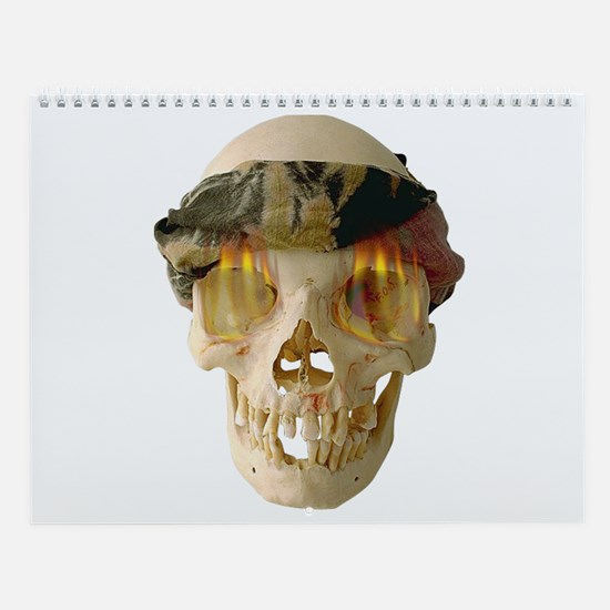 FireEyed Skull Wall Calendar