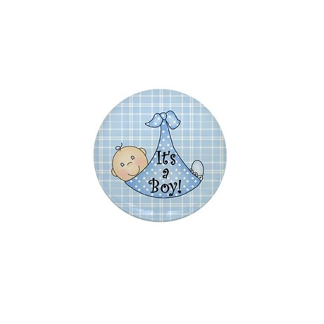 It's a Boy (white) Mini Button (100 pack)