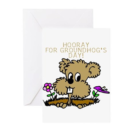 HOORAY FOR GOUNDHOG'S DAY! Greeting Cards (Package