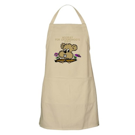 HOORAY FOR GOUNDHOG'S DAY! BBQ Apron