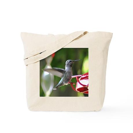 Humming Bird and Feeder Tote Bag