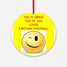 fantasy football Ornament (Round)