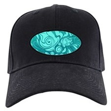 Teal Leaves Baseball Hat