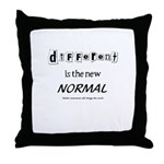 Different is the new normal Throw Pillow