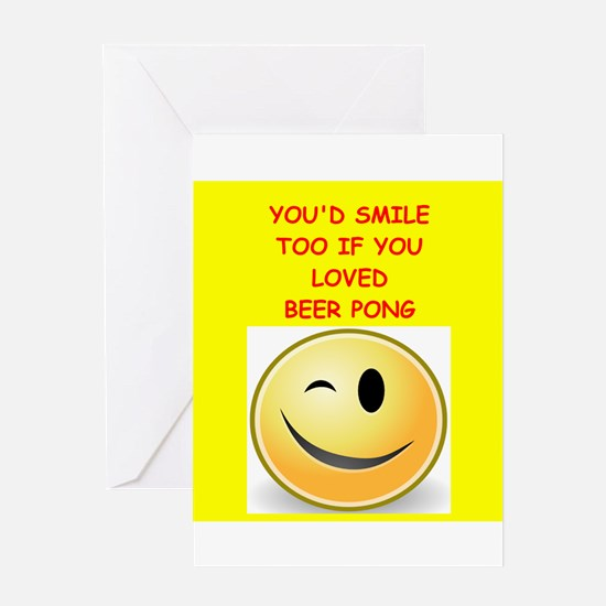 beer pong Greeting Cards