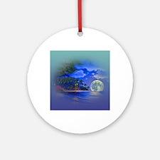 Cute Moon Round Ornament