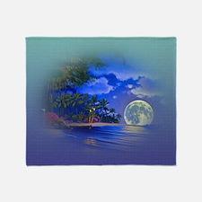 Unique Full moon Throw Blanket