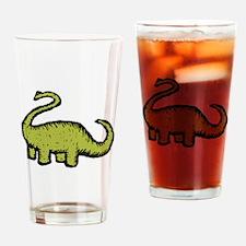 Green Brontosaurus Drinking Glass