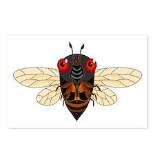 Cute Cartoon Cicada Postcards (Package of 8)