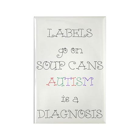 Autism ~ Labels go on soup cans Rectangle Magnet