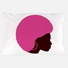 Pink_afro.png Pillow Case