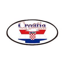 Cute Croatia ribbon Patches
