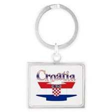 Cute Croatia ribbon Landscape Keychain