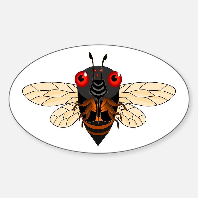 Cute Cartoon Cicada Decal
