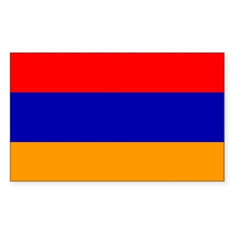 Armenia Flag Rectangle Sticker