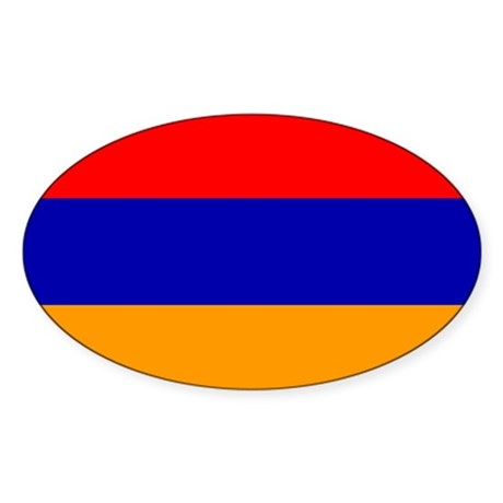 Armenia Flag Oval Sticker