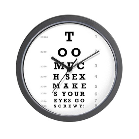 """""""Too Much Sex"""" Wall Clock"""