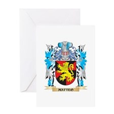 Matteo Coat of Arms - Family Crest Greeting Cards