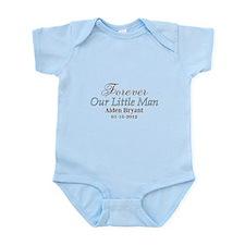 Blue Brown Personalizable Little Man Body Suit