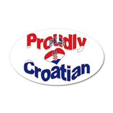 Proudly Croatian Wall Sticker