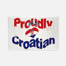 Proudly Croatian Rectangle Magnet