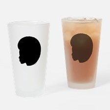 Woman_afro_black.png Drinking Glass
