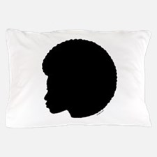 Woman_afro_black.png Pillow Case
