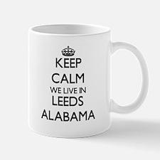 Keep calm we live in Leeds Alabama Mugs
