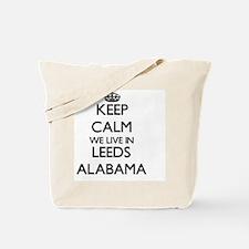 Keep calm we live in Leeds Alabama Tote Bag