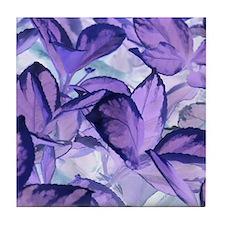 Purple Leaves Tile Coaster