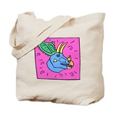 Triceratops Face Tote Bag