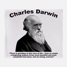 Darwin: Evolved Throw Blanket