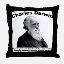 Darwin: Evolved Throw Pillow