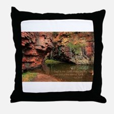 Lord is my Rock Throw Pillow