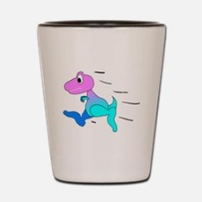 Dinosaur Running Shot Glass