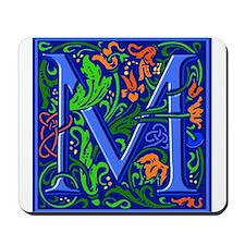 Floral Initial M Mousepad