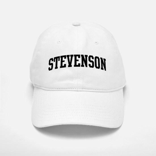 STEVENSON (curve-black) Baseball Baseball Cap