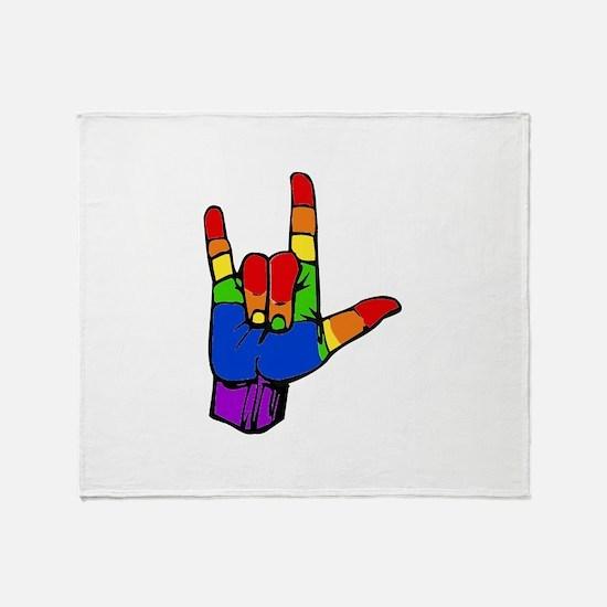ily rainbow.png Throw Blanket