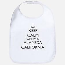 Keep calm we live in Alameda California Bib