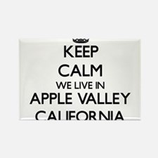 Keep calm we live in Apple Valley Californ Magnets