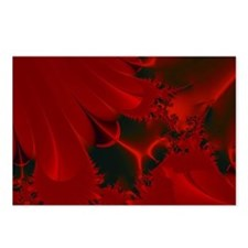 Red Fusions Fractal Art Postcards (Package of 8)